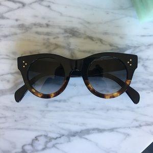 Céline 41424/S Alia Sunglasses-Black Tortoise Brwn